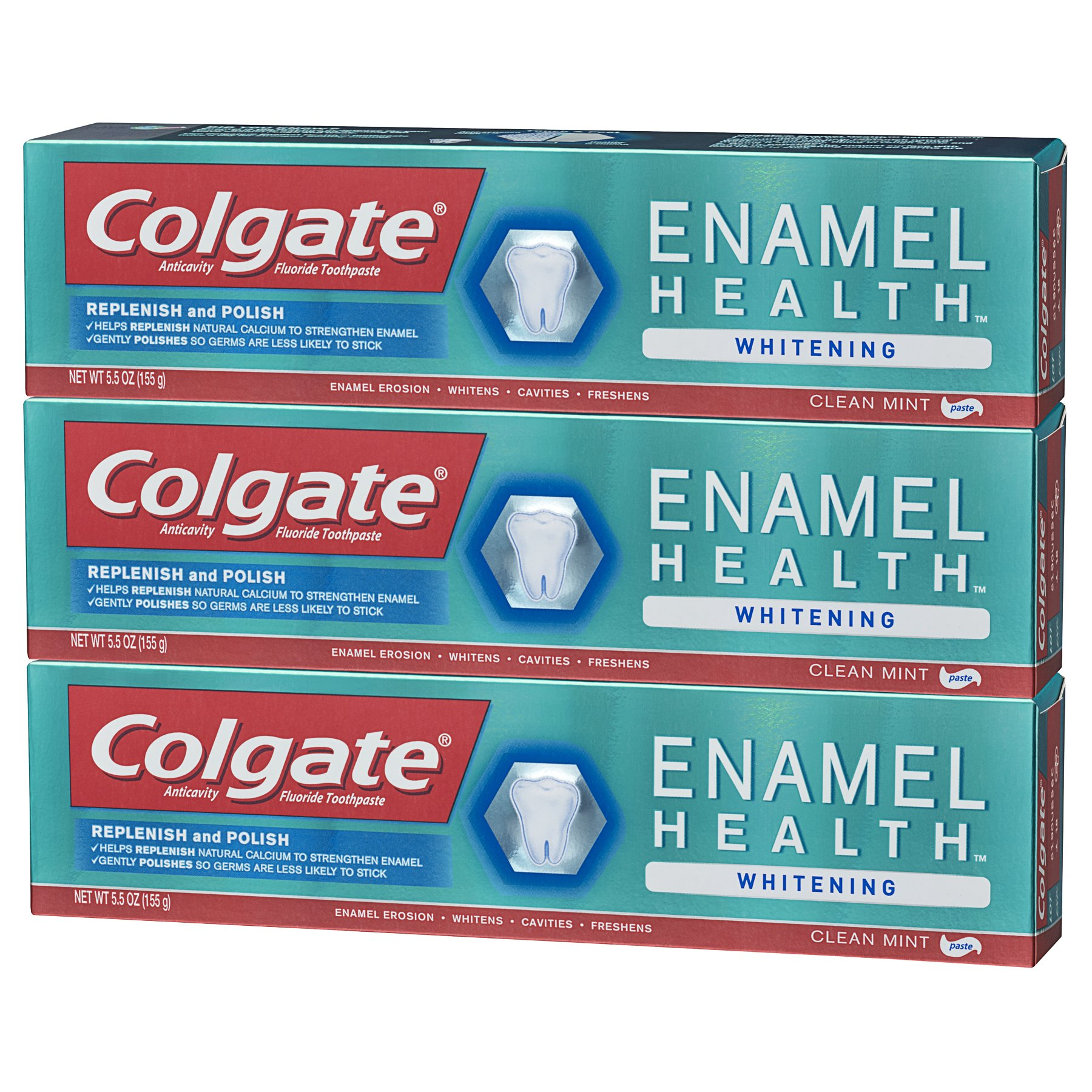 Colgate Enamel Health Whitening Toothpaste - 5.5 ounce (3 Pack) by Colgate (Image #7)