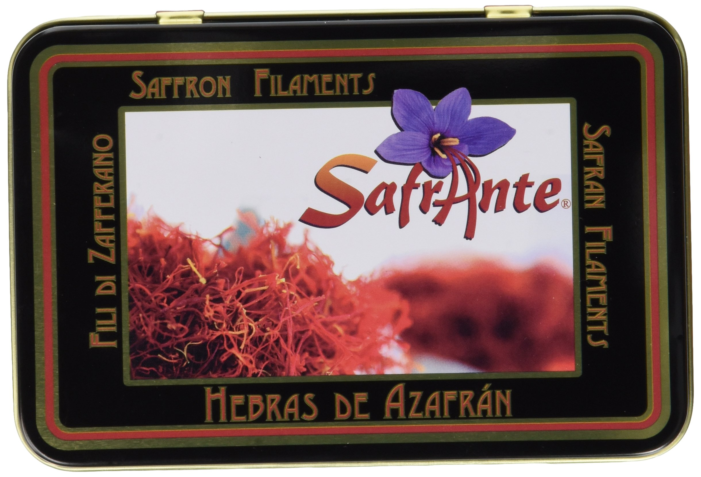 Safrante Pure Spanish Saffron Tin, 1 Ounce (28.35 Grams)