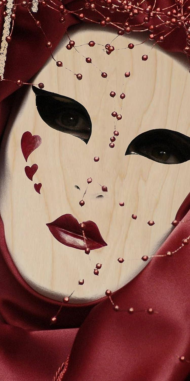 Sombrero de tiburón griego antiguo cine teatro máscara - contrachapado madera impresión Póster de pared Art: Amazon.es: Hogar