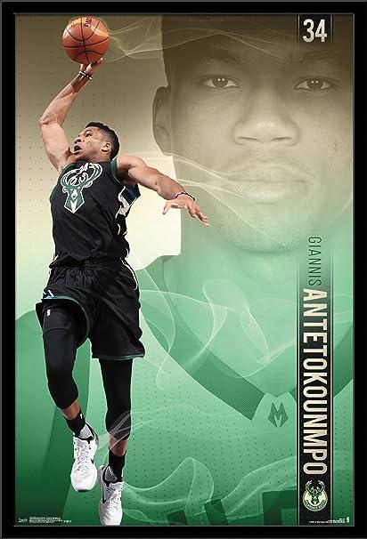 Amazon.com  Trends International Wall Poster Milwaukee Bucks Giannis ... d5ad3ea2e