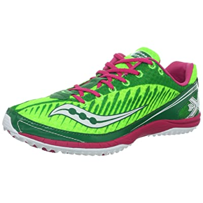 Saucony Women's Kilkenny XC5 Spike Cross-Country Shoe, Green/Pink, 10 M US | Track & Field & Cross Country