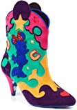 Irregular Choice x Disney Mickey & Friends Hot Diggety Dog Minnie & Mickey Mouse Suede Heeled Cowboy Boots