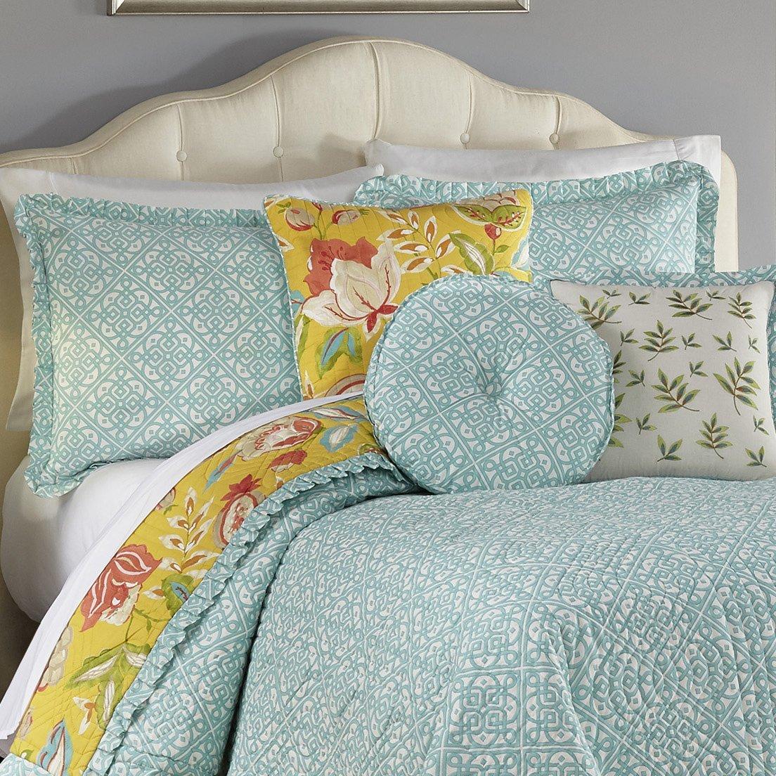 Sunshine Ellery Homestyles 16302BEDDF//QSSH WAVERLY Modern Poetic Quilt Collection Full//Queen
