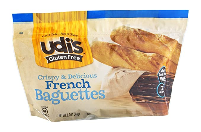 Udi S Gluten Free French Baguettes 2 Baguettes Per Pack Case Of 6