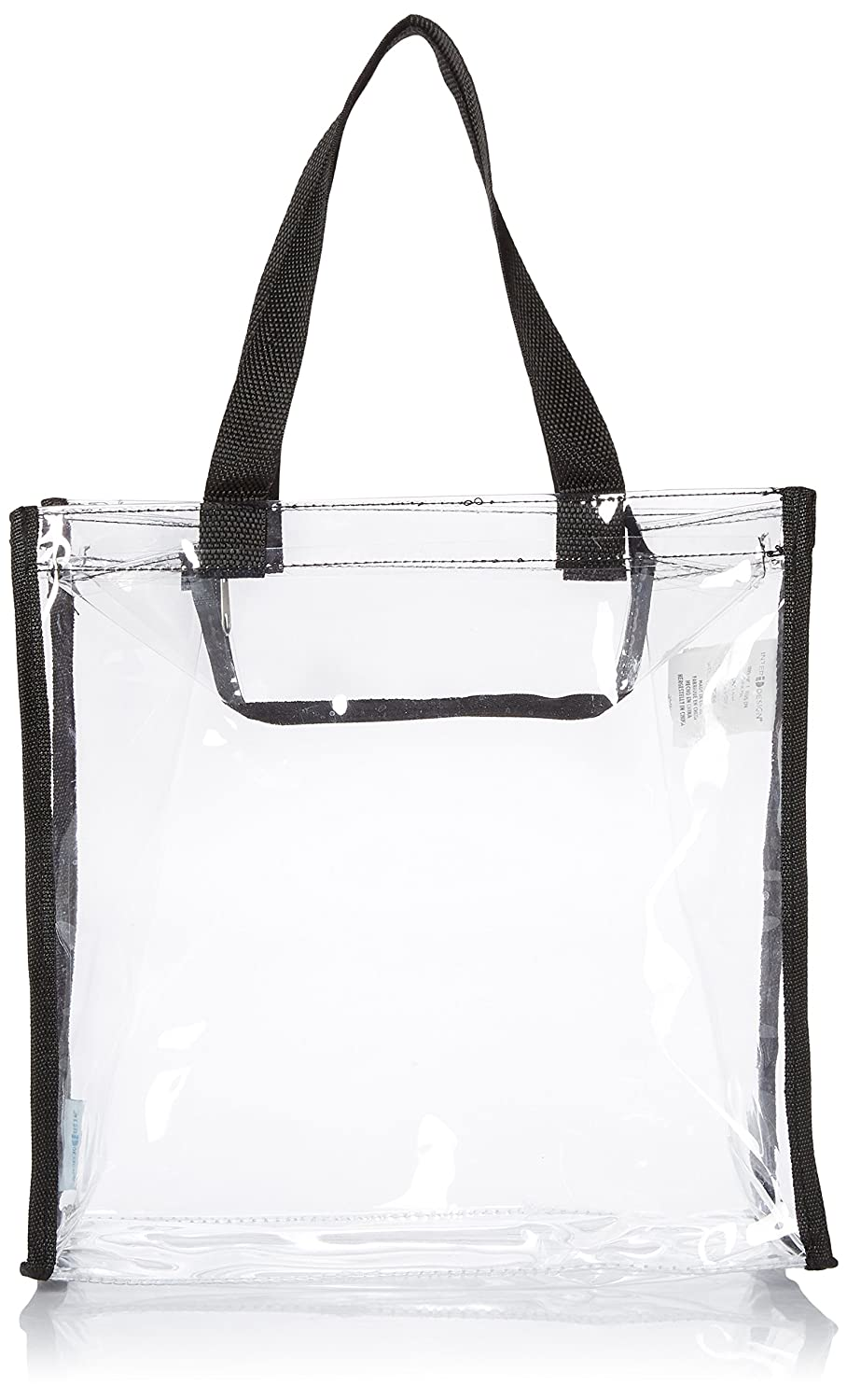 mDesign Travel Bag and Accessories Bag - Bag for Beach, Care Products or Cosmetics - Carrying Case Transparent / Black MetroDecor FBA_4163MDBST