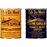Cafe Du Monde Coffee and Chickory and French Roast Bundle. New Orleans Coffee Bundle Includes One 15 ounce Original Coffee And One 13 Ounce French Roast.