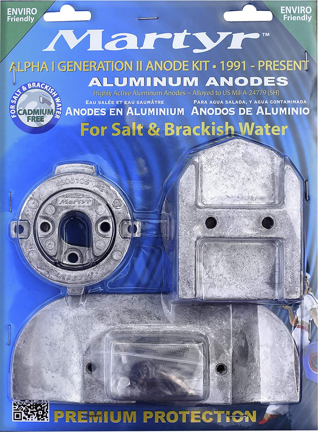 ALUMINUM MERCURY ANODES ALPHA ONE ALPHA-1 PREMIUM KIT