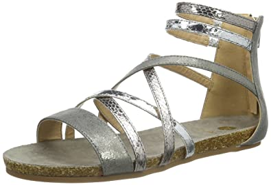 La Strada Silver Coloured Sandal, Sandales Bout Ouvert FemmeArgentSilber (1442Cracked Silver), 36