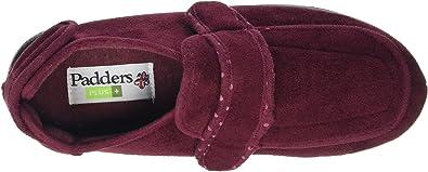 D Fit Slip-On Full Slippers Navy Padders AMELIA Ladies Womens Velour Regular