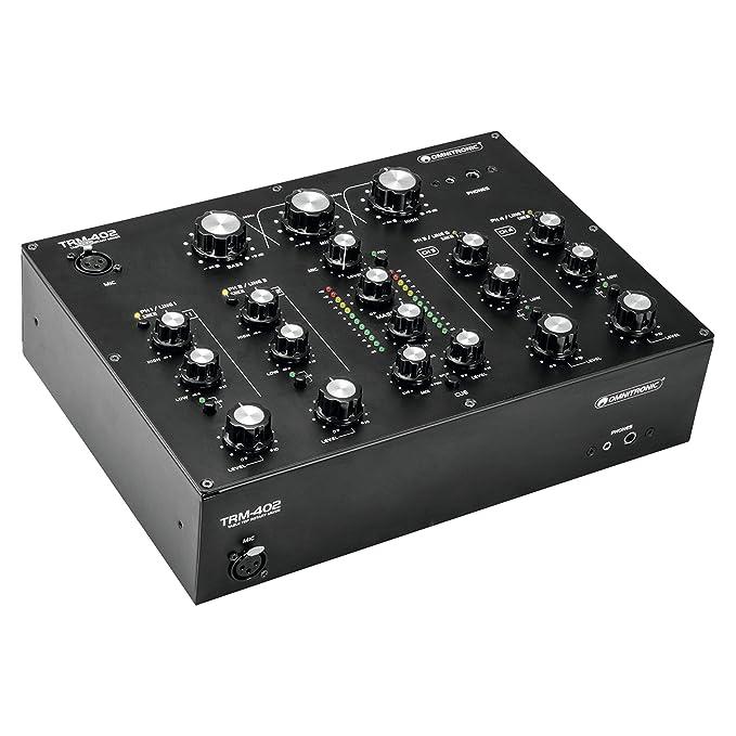 Omnitronic 10355930 mezclador analógico giratorio de 4 canales: Amazon.es: Instrumentos musicales