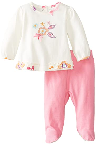 cfdb9cf53241 ABSORBA Baby-Girls Newborn G Floral Footed Pant Set
