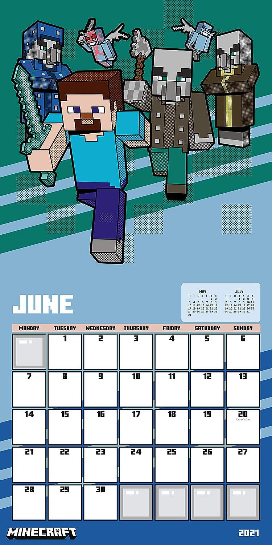 Minecraft 8 Calendar - Official Square Wall Format Calendar