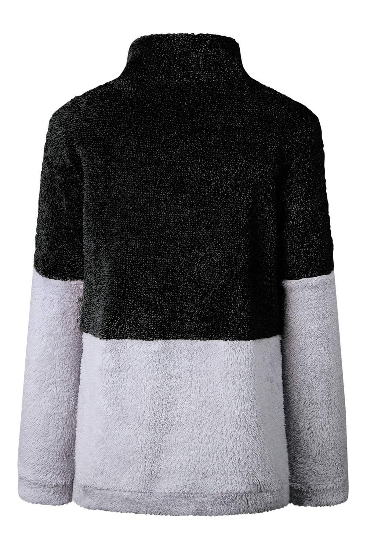 ee2605a4d5b646 HSRKB Womens Sweatshirts Fall Fleece Jackets Sherpa Pullover Winter Coats  with Zipper