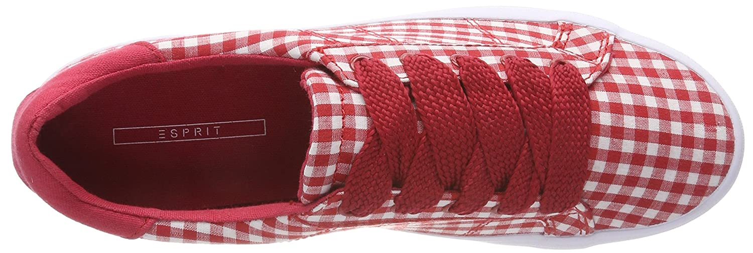 ESPRIT Damen Mindy Vichy Lu (Red) Sneaker, Rot (Red) Lu 670819