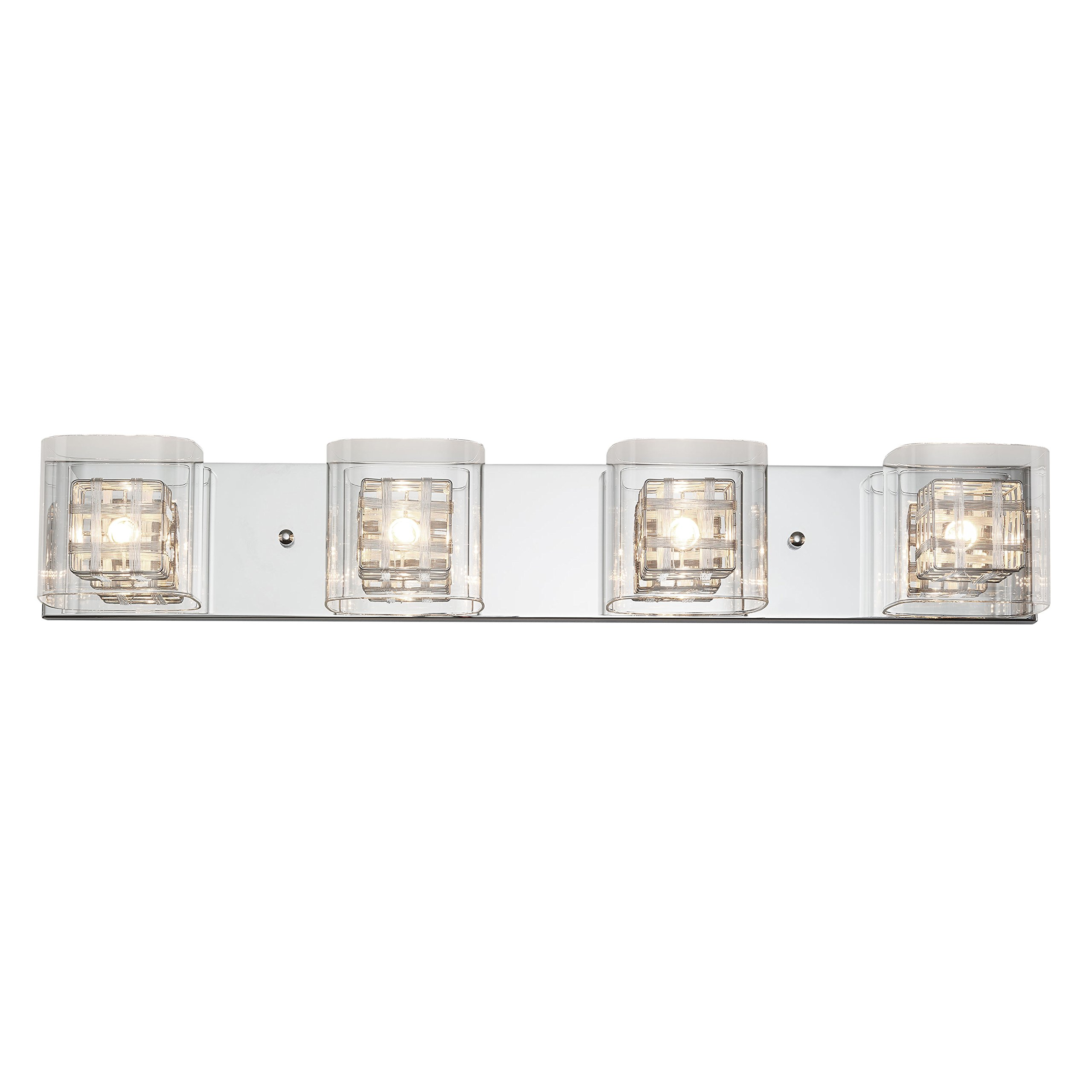 Artika VAN4M-HD1 Metropolitan 4-Light Bulbs, 30-inches Wall Fixture with Dimmable Light and a Chrome Finish by Artika (Image #1)