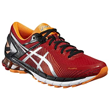 633ef2b206ea ASICS GEL-Kinsei 6 Road Running Shoes - Men s-True Red Silver Hot Orange