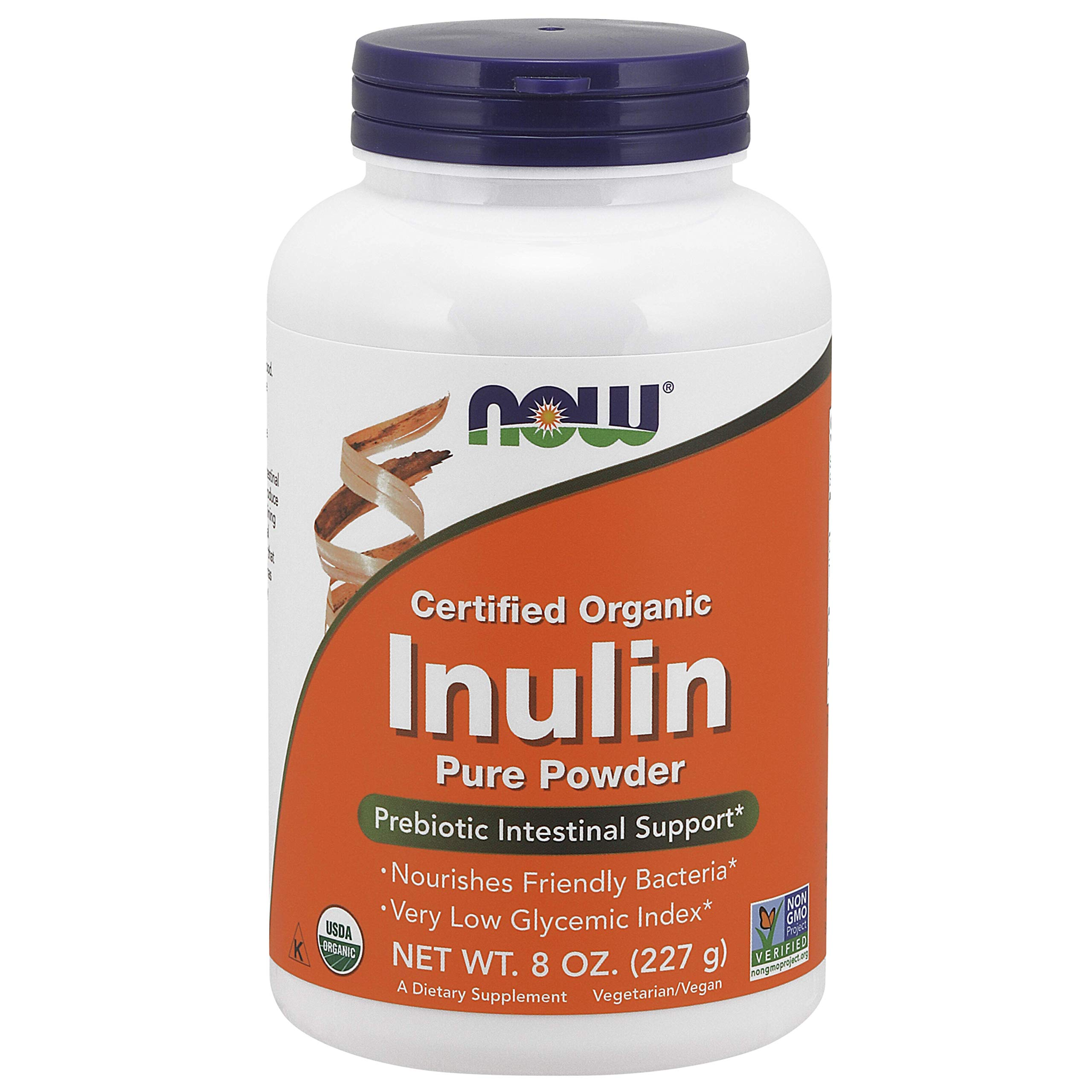 NOW Foods Inulin Prebiotic FOS, 8-Ounce