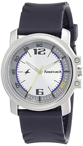 10. Fastrack Economy Analog Silver Dial Men's Watch -NK3039SP01