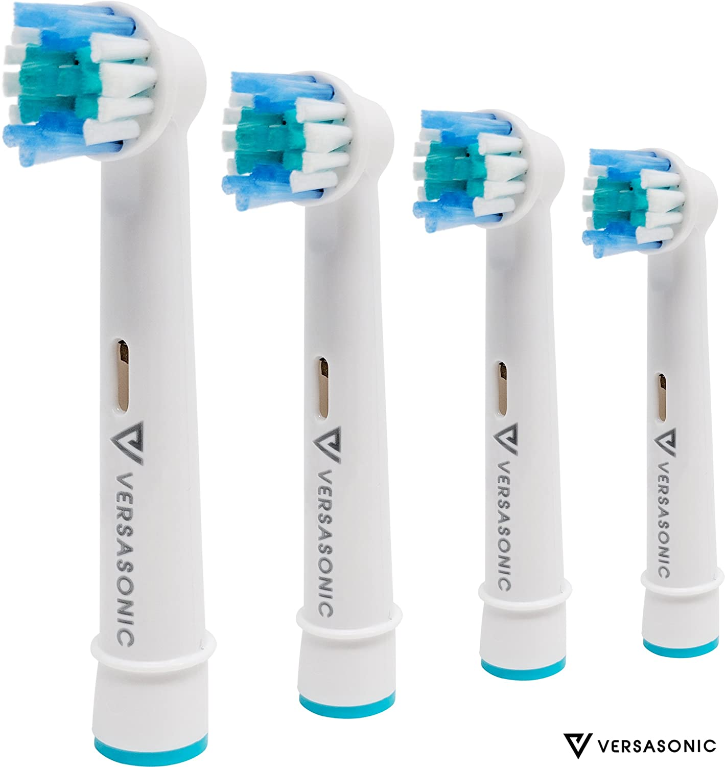 4 Pack of Premium Braun Oral B Replacement Toothbrush Heads by Versasonic Hybriel