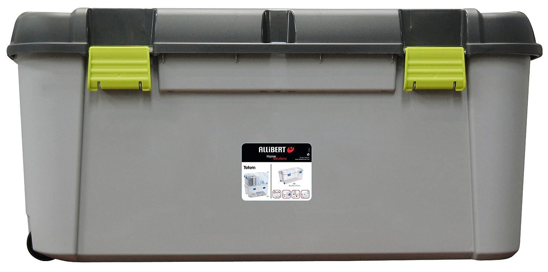 BIG 80 Litre Allibert Totem Mobile Plastic Storage Trunk Box Container Locker  Wheels. Perfect For Kids Toys, Amazing Value, BIG Size, Padlockable, ...