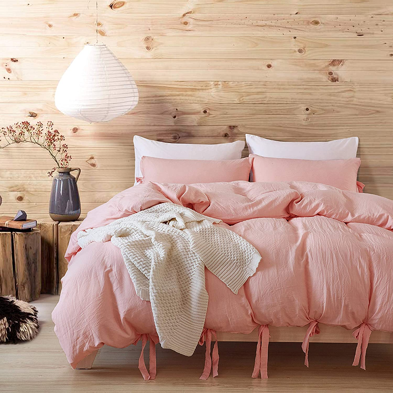 Max 51% OFF Sales results No. 1 Romdale Bowknot Duvet Cover King 104x90 Inch Solid Pin 3 Pieces
