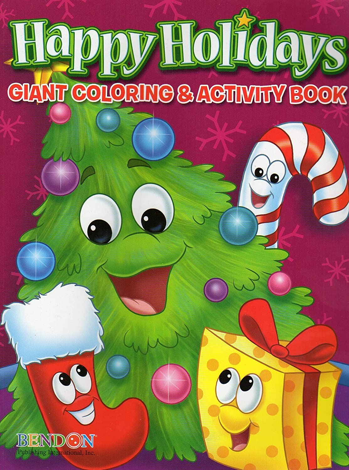 Amazon Happy Holidays 160 Page Giant Coloring And Activity Book Christmas Edition Toys Games
