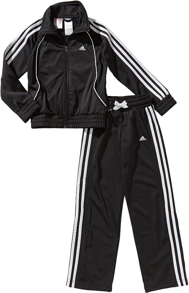 adidas - Chándal para niña, tamaño 170 UK, color top:black/blanco ...