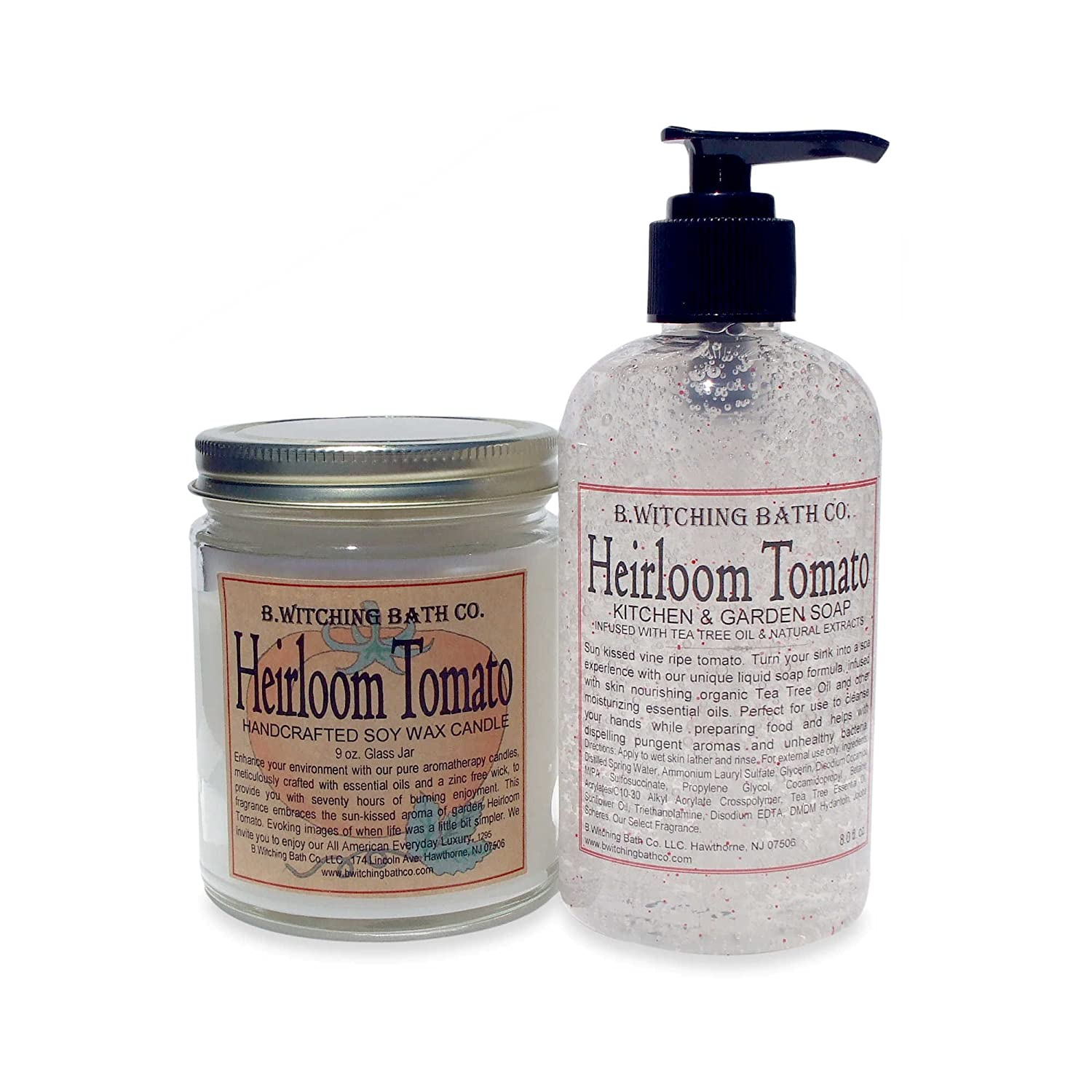 B. Witching Bath Co. Heirloom Tomato Soap and Candle Gift Set