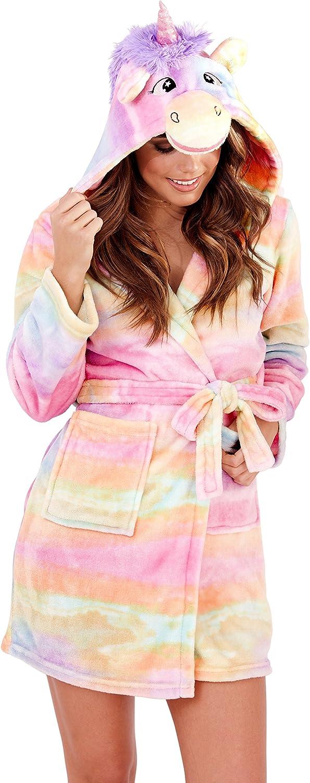 Multiple Motifs Femmes Luxe Molleton Super Doux Salon Robe De Lingerie De Nuit Loungeable Styles