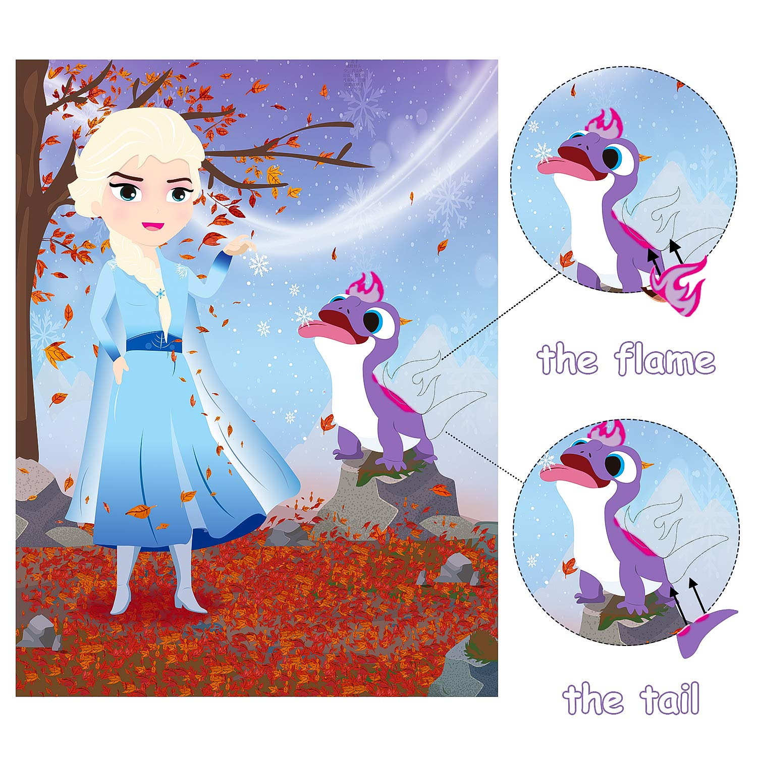 MALLMALL6/36Pcs Frozen Make/a/Face/Stickers Princess Party/Favors/Games Frozen Themed Birthday Party Supplies Princess Sticker Snow Queen Party Decorations Elsa Anna Dress Up DIY/Crafts for Kids