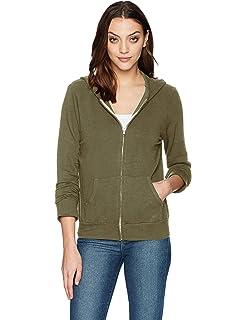 jersey sweatshirt hood Size: M Wildfox basic zip hoodie jet black slouchy
