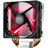 Cooler Master Hyper 212 LED Ventola per CPU '4 Heatpipes, 1x Ventola da 120mm PWM, LED Rossi' RR-212L-16PR-R1