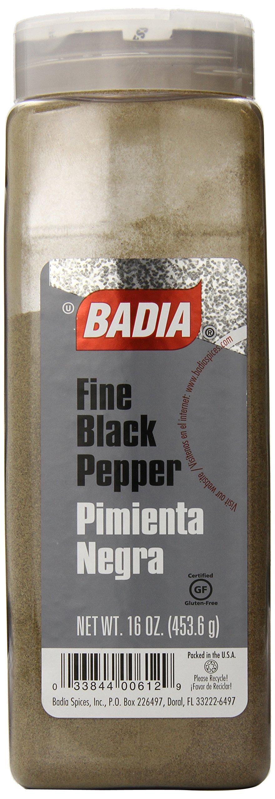 Badia Black Pepper Ground Fine, 16 Ounce