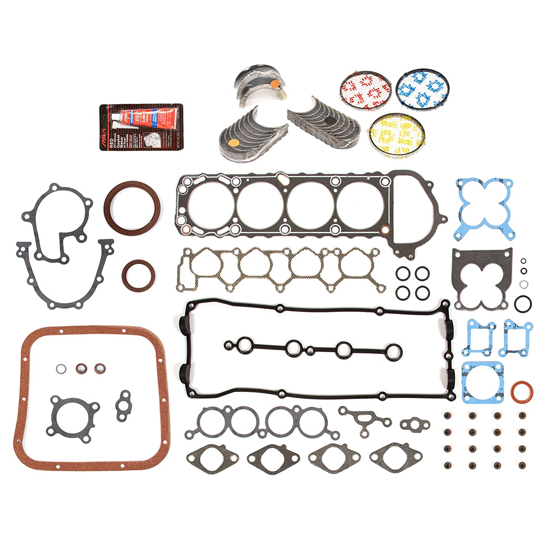 Evergreen Engine Rering Kit FSBRR3016EVE\0\0\0 98-04 Nissan Frontier Xterra 2.4 DOHC KA24DE Full Gasket Set, Standard Size Main Rod Bearings, Standard Size Piston Rings Evergreen Parts And Components