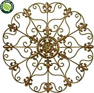 "SALE! 16"" Hand Made Metal Iron Wall Medallion, Wall, Home, Room Decoration, Home Decor 100% Lead Free Paint, Bronze Color. Gift yourself or a LOVED one!"