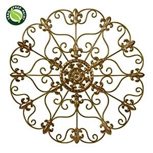"""SALE! 24"""" Hand Made Metal Iron Wall Medallion, Home, Room Decoration Home Decor 100% Lead Free Paint, Bronze Color. Gift yourself or a LOVED one!"""