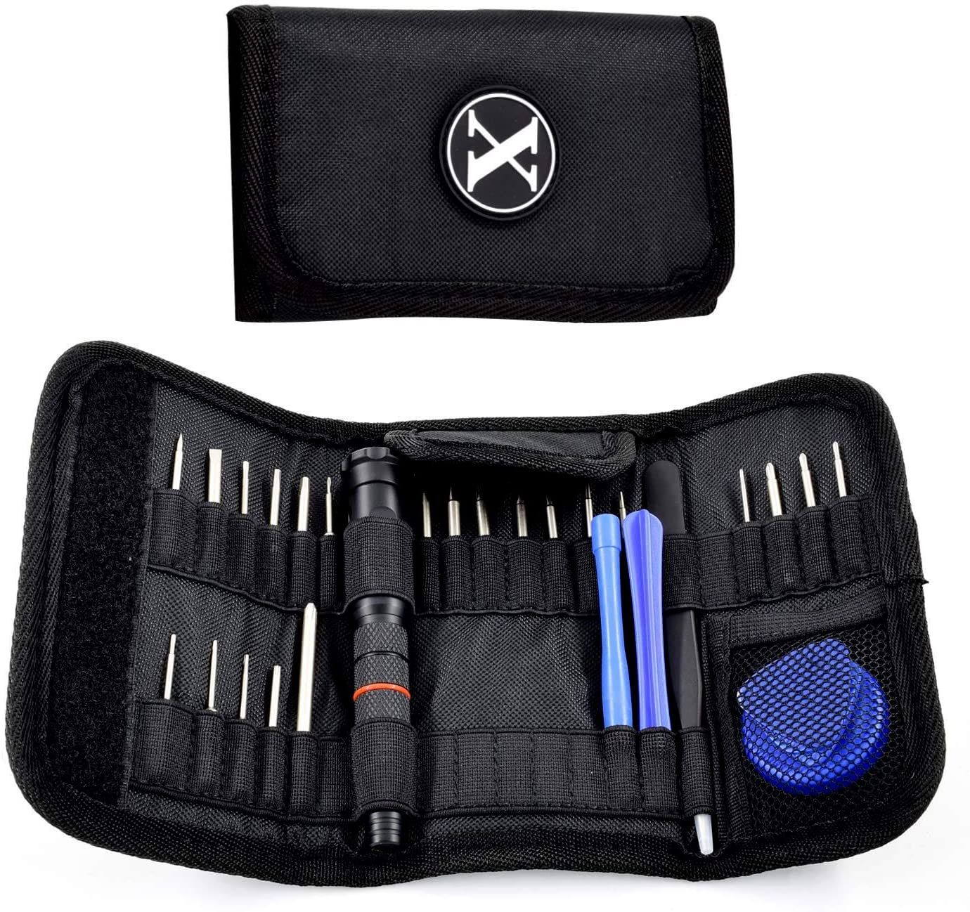 Precision Screwdriver Set with a Magnetizer, GOTO 29 in 1 Magnetic Screwdriver Set in Rugged Canvas Pouch, S2 Alloy Screwdriver Bits for Electronics, Glasses, Watch, Jewelry