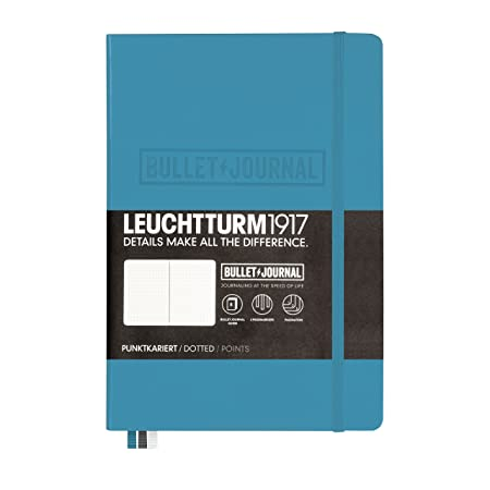 Leuchtturm1917 Medium A5 Notebook- Bullet Journal Special Edition- 240 numbered pages, Nordic Blue
