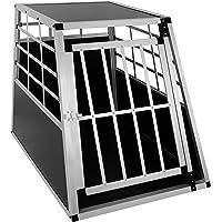 EUGAD Hundebox Transportbox Hundetransportbox Aluminium 1 Türig Reisebox Gitterbox Box Farbwahl EHT466