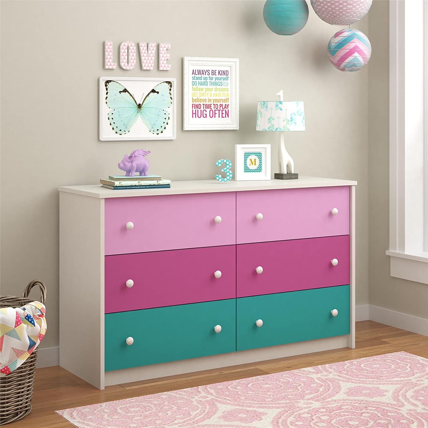 nightstands nightstand furniture dresser blue most cool for white great finesse girls pink kids