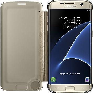 Samsung Clear View Cover - Funda para Samsung Galaxy S7 Edge, con ...