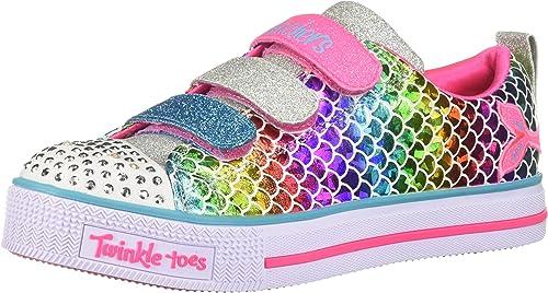 Skechers Twinkle Lite Sparkle Scales, Baskets Fille