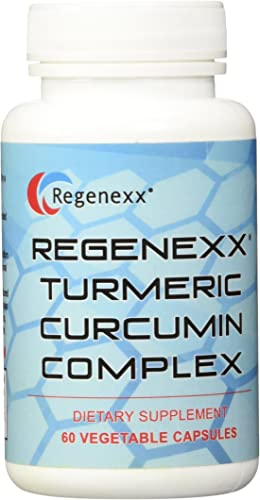 Regenexx Turmeric Curcumin Complex, 95 Curcuminoid extract with BioPerine. 60-Count, Veggie Caps. Enhanced Absorption Formula.