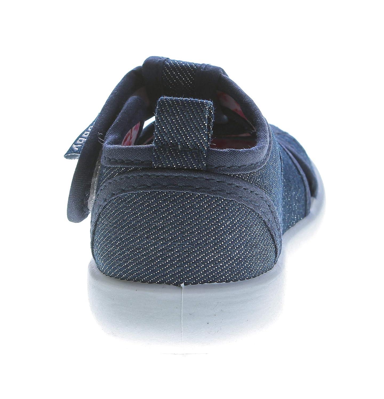 Slobby Kinder Sandalette geschlossen M/ädchen Freizeit Stoff Schuh Glitzer Klettverschluss 19-24