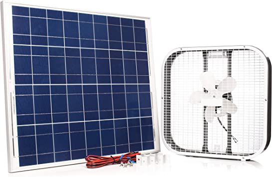 Solar Panel Powered Fan 8 inch USB Ventilator for Chicken Coop Greenhouse Van