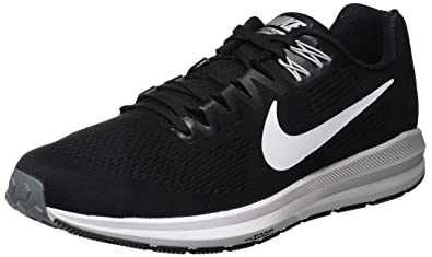 big sale c1ad9 f4171 Nike Men s Air Zoom Structure 21 Running Shoes, (Black Wolf Cool Grey