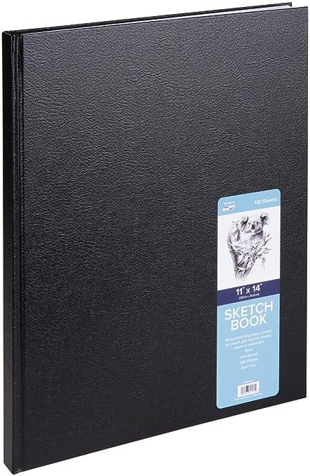 amazon com pro art pro art hard bound sketch book 11 by 14 inch