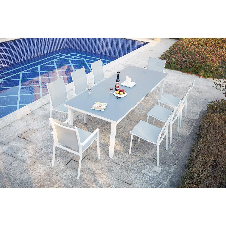 Concept Usine Moniga 8 Table De Jardin Extensible 8 Personnes  # Table De Jardin Qui Ne Rouille Pas