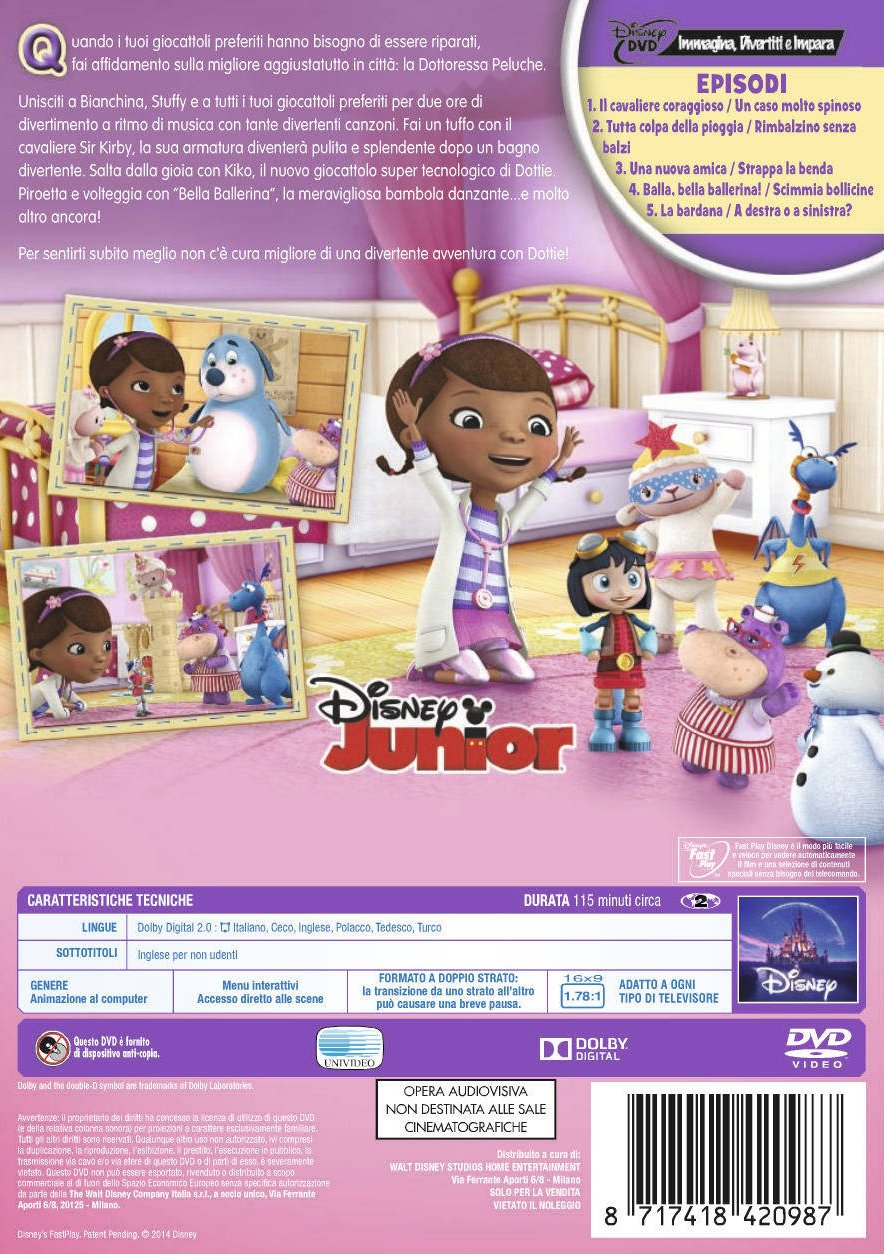 Amazon.com: dottoressa peluche - una piccola coccola ti scalda il cuore dvd Italian Import: animazione: Movies & TV