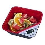 Duronic KS100BK Black Portable Design Digital Display 5KG Tray/Bowl Kitchen Scales (Black)